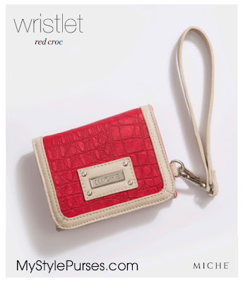 Miche Red Croc Wristlet Wallet