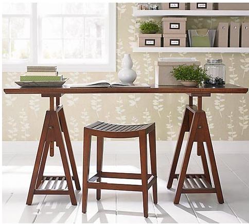 Re Make Sawhorse Desk Makeover: sawhorse desk legs