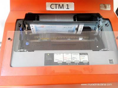 Printer Tiket di CTM