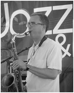 Geof Bradfield - Tenor Saxophone - Spin Quartet - 2015 Chicago Jazz Festival   Photograph by Tom Bowser