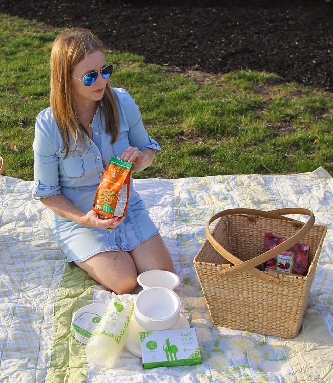 dorset picnic basket, repurpose tableware