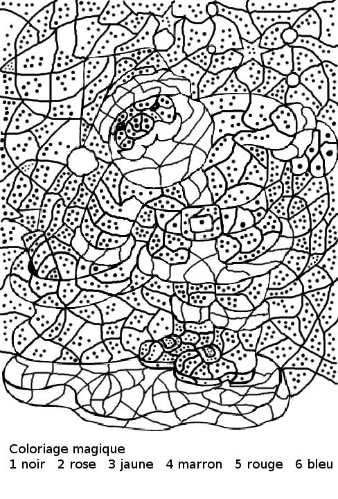 Maternelle coloriage magique maternelle le p re no l et - Coloriage magique son ...