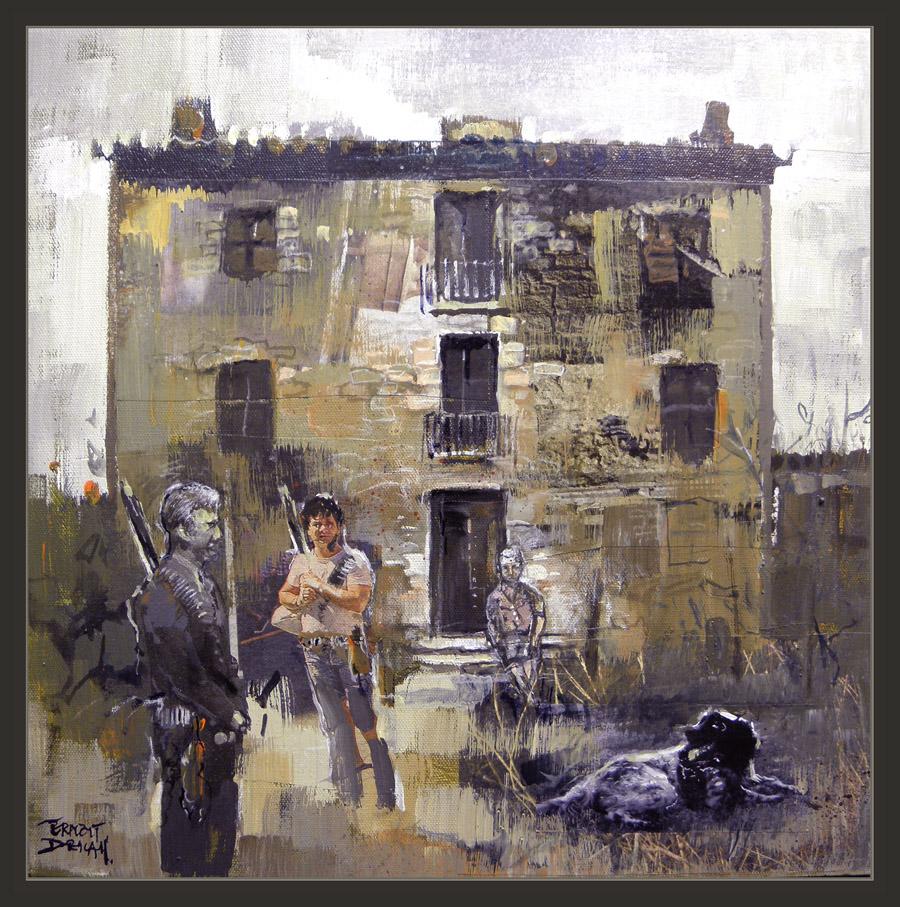 Ernest descals artista pintor masies masia catalana - Pintores en girona ...