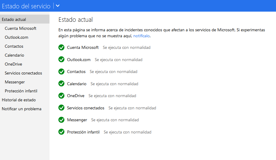 verifica el status outlook.com paso 1