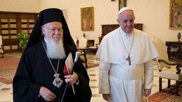 Papa Francisco e papa da Igreja Católica Oriental