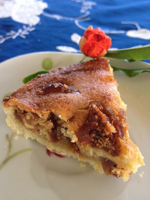 tarte figues séchées amandes pâte sablée