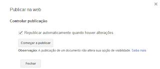 Publicar Documento do Google Docs Online