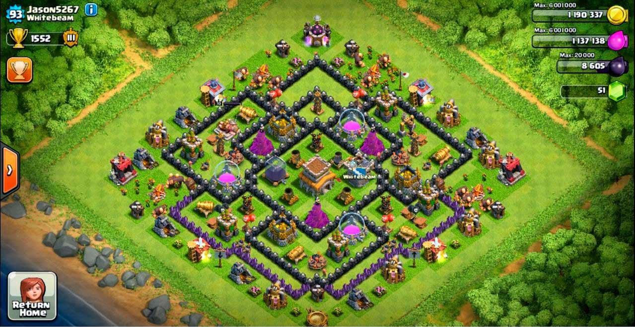 Gambar Base Town Hall 8 Clash Of Clans Terbaik Untuk Mempertahankan