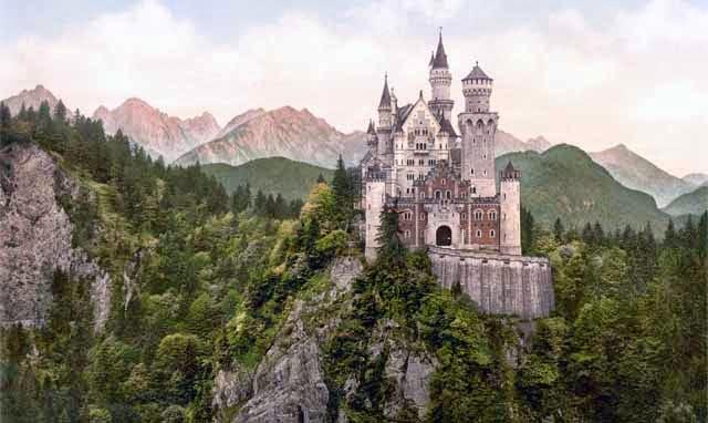 Castillo de Neuschwanstein en Baviera, Alemania