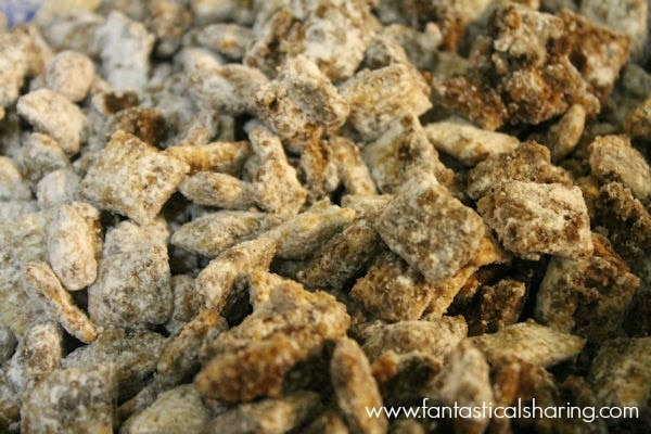 Salted Peanut Nutella Puppy Chow | Regardless of if you call it puppy chow or muddy buddies, this recipe is amazing!