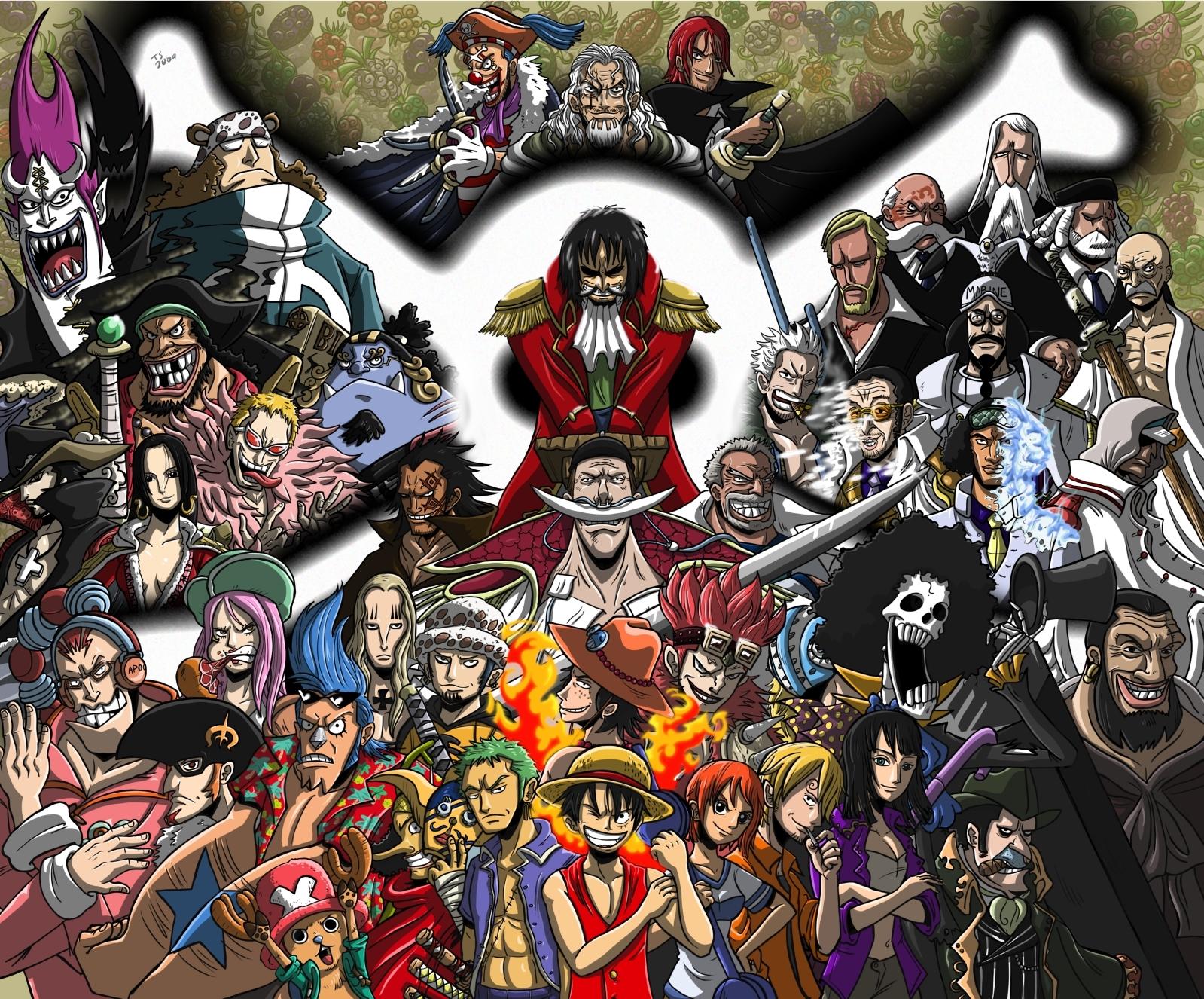 1 Piece Anime Characters : ภาพการ์ตูน one piece anime wallpaper