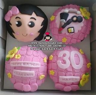 Birthday Cupcake Tema Kosmetik