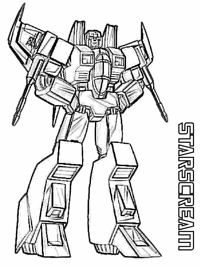 Transformers coloring pages realistic coloring pages for Starscream coloring page
