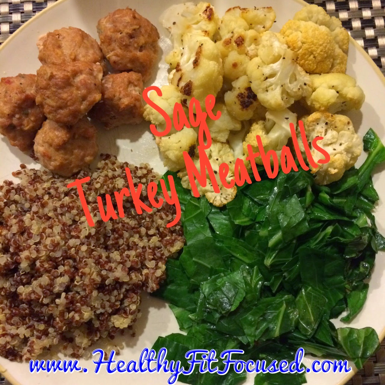 Clean Eating Sage Turkey Meatballs, 21 Day Fix Approved, Insanity Max:30 meal