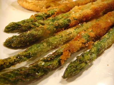 Panko-crusted asparagus