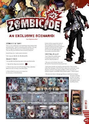 Zombicide free scenario Ravage MAgazine Cars and Zombies Zombies and Cars - Ravage Scenario