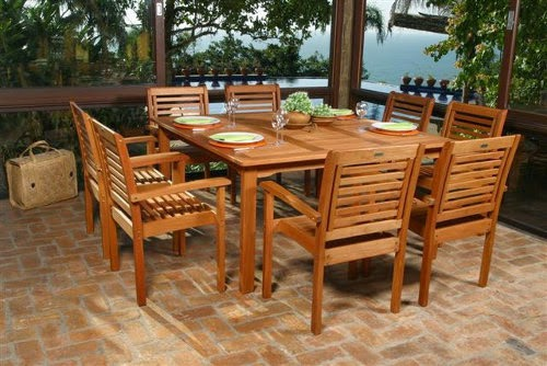patio furniture wooden outdoor dining set