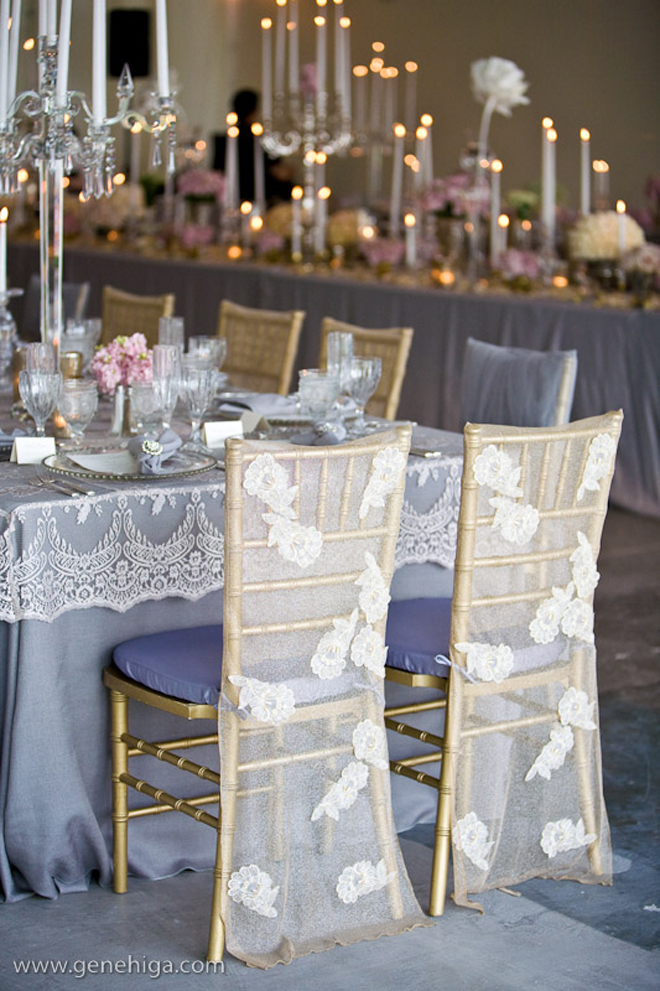 Wedding Reception Table Set Up
