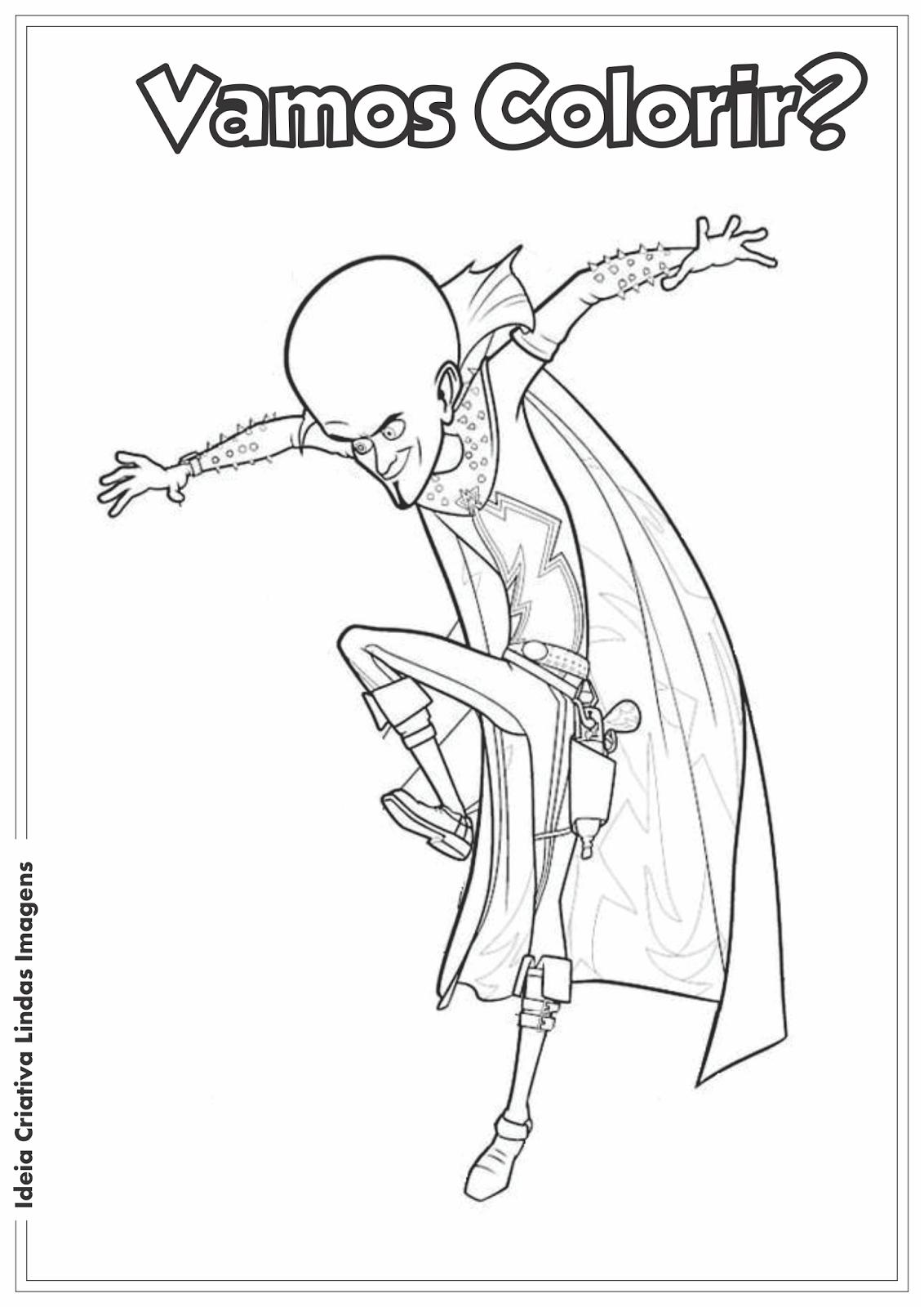 Desenho para colorir - Megamind