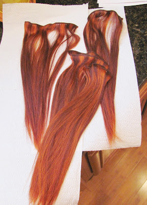 Sally'S Red Hair Extensions 4