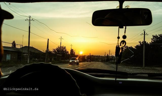 Sonnenaufgang Shymkent, Kazachstan