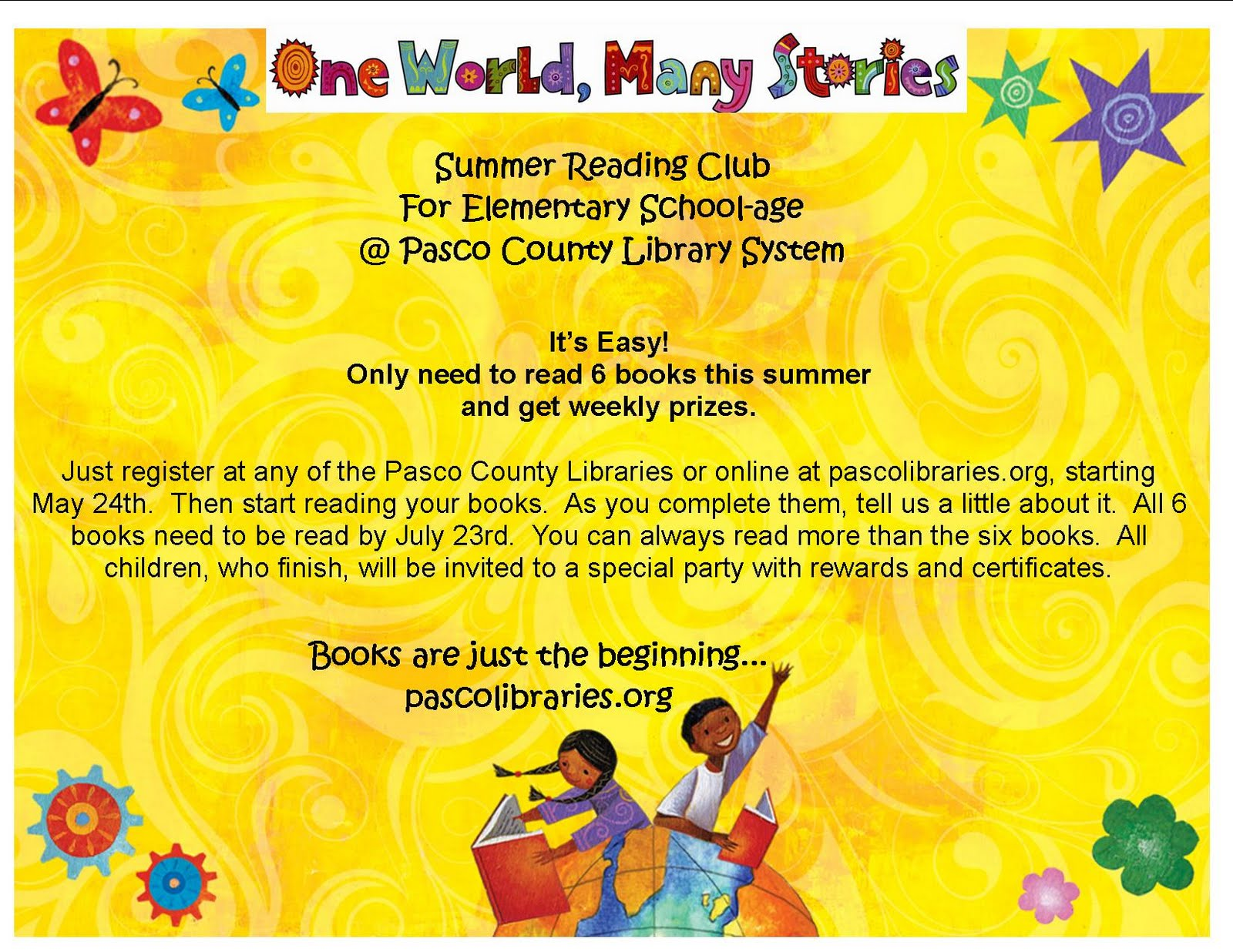 sign up for summer reading club starts may 24th