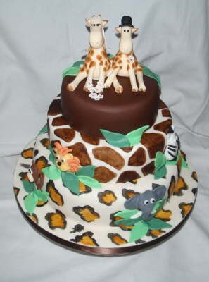 Cake Designs Giraffe : Wedding Cake Designs: Giraffe Themed Wedding Cakes