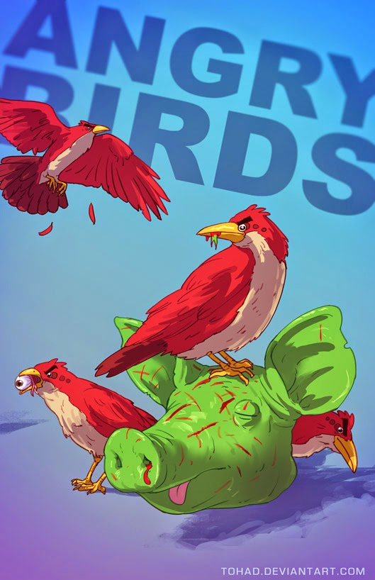 badass fanart de Sylvain «Tohad» Sarrailh des angry birds