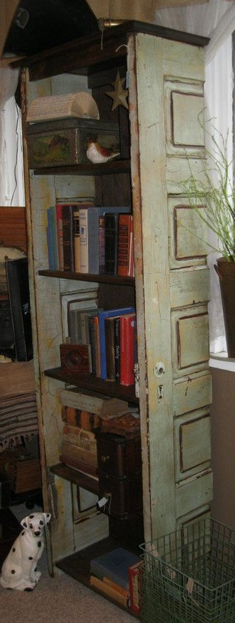 New Cool Bookcase Made From Old Doors  BookWorm  Pinterest