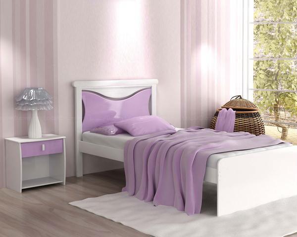 Dormitorios con acentos en morado p rpura y lila for Habitacion lila y blanca