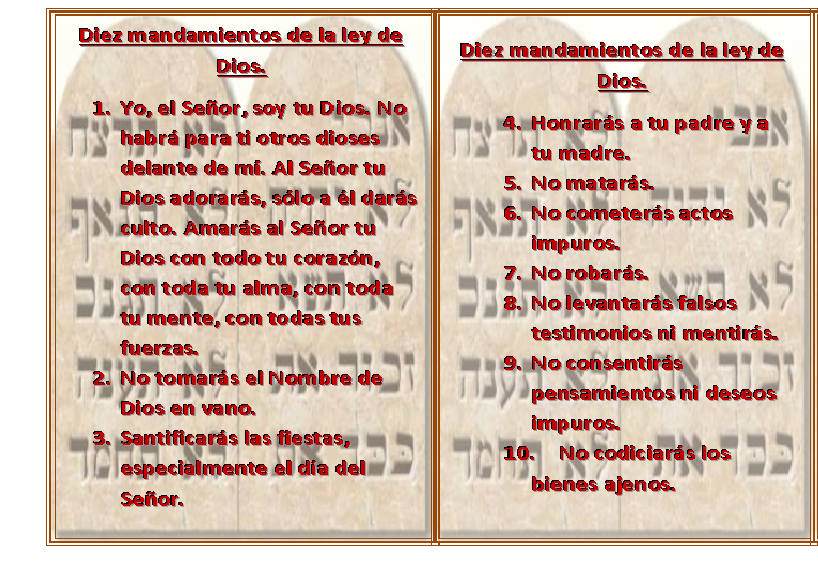 Vivencias cotidianas - Los 10 locos mandamientos ...