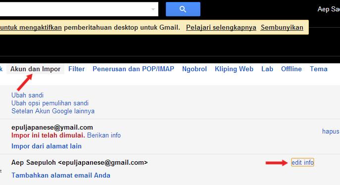 cara mengganti nama pengirim email gmail 2