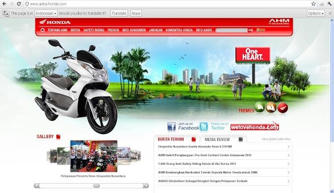 Web Astra Honda Motor Telah Normal Kembali