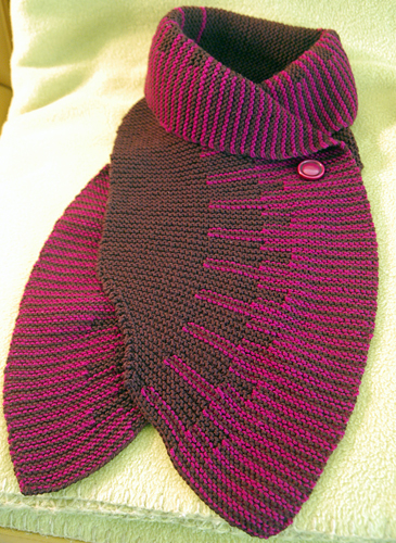 Free Knitting Pattern For Short Row Scarf : Linda Knits: Short Row Scarf