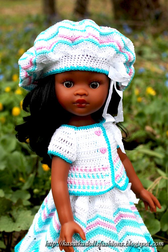 Уроки вязания крючком. Юбка с оборками для куклы / Вязание для кукол