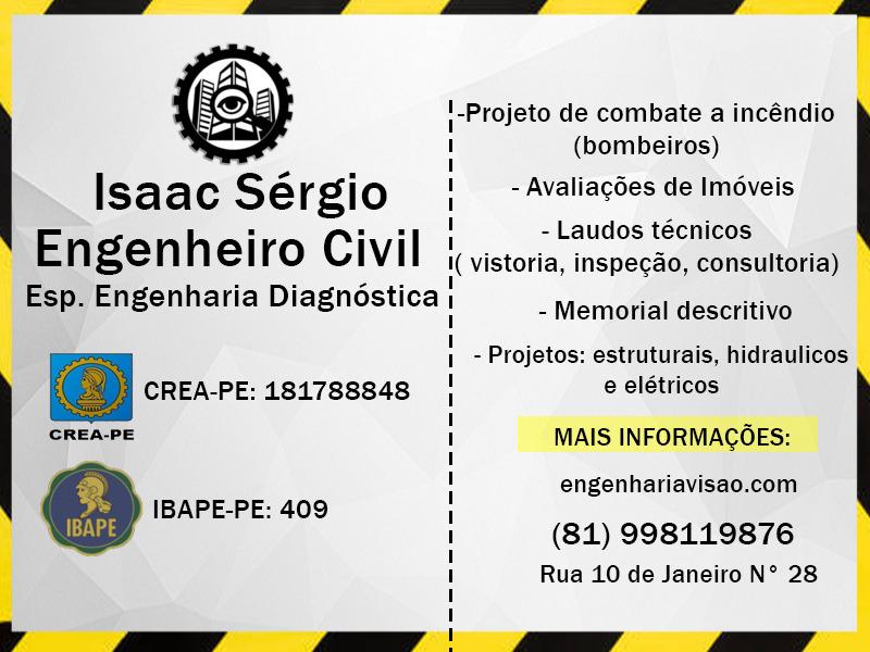 ISAAC SÉRGIO ENGENHEIRO CIVIL (81) 998119876