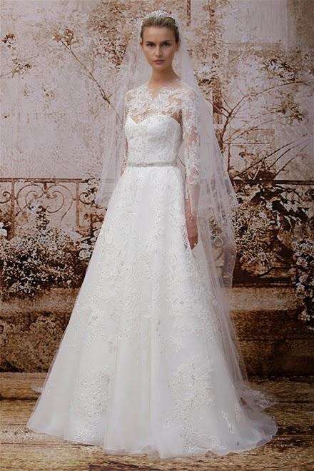 Những mẫu váy cưới mùa thu xu hướng năm 2014 cho cô dâu1
