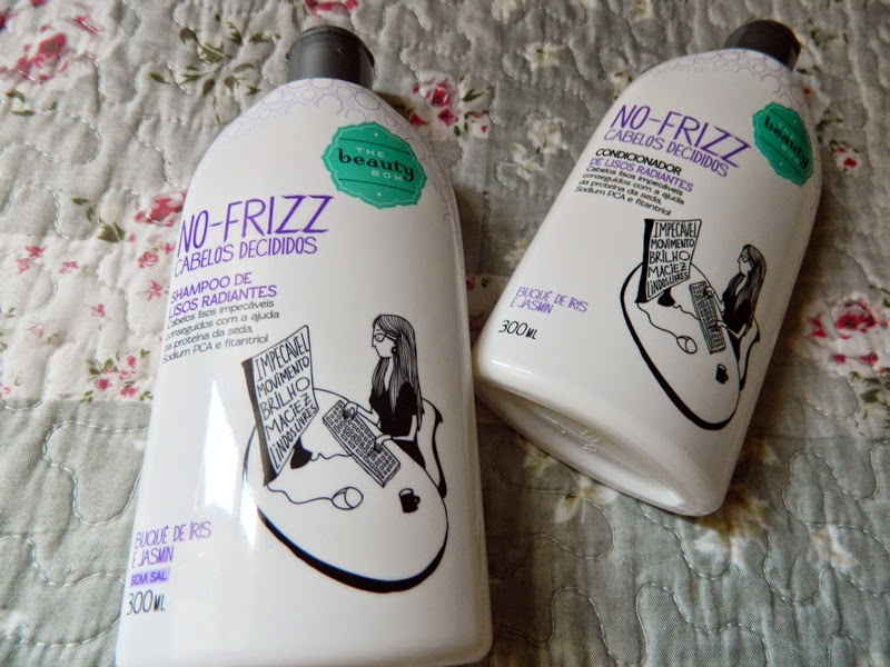 resenha shampoo e condicionador no frizz the beauty box