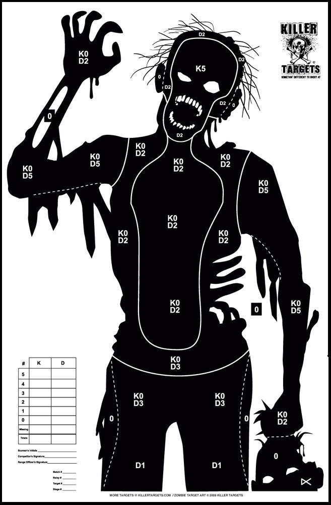 Obsessed image with regard to printable zombie targets