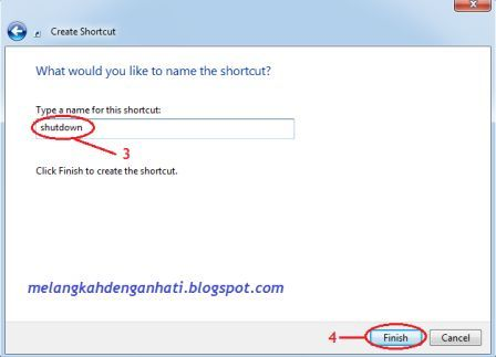Membuat shortcut shutdown, restart dan log off di windows