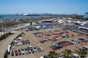 Long Beach Grand Prix from Ocean Blvd 6:16 PM (long beach grand prix )