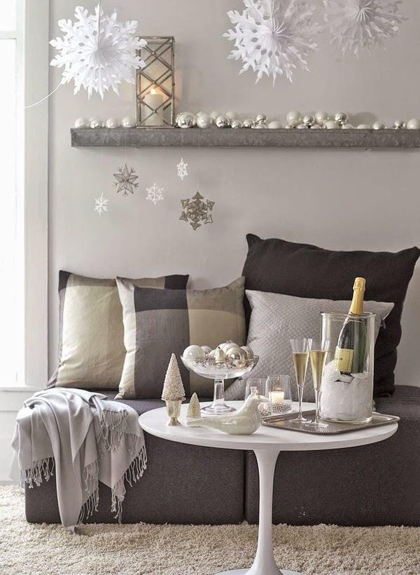 Deco ideas decorativas de navidad para espacios peque os for Departamentos decorados vintage
