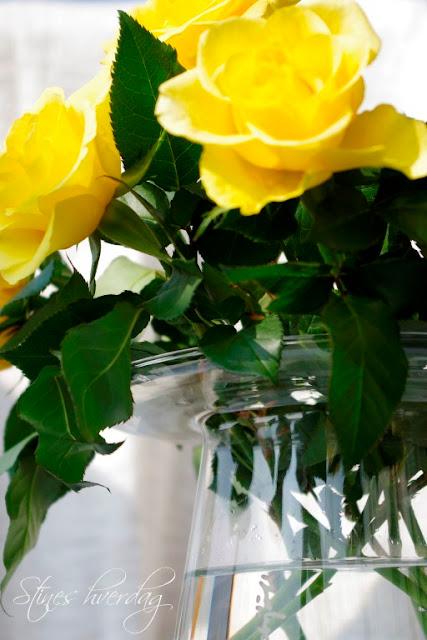Finn Schjöll vase med gule roser