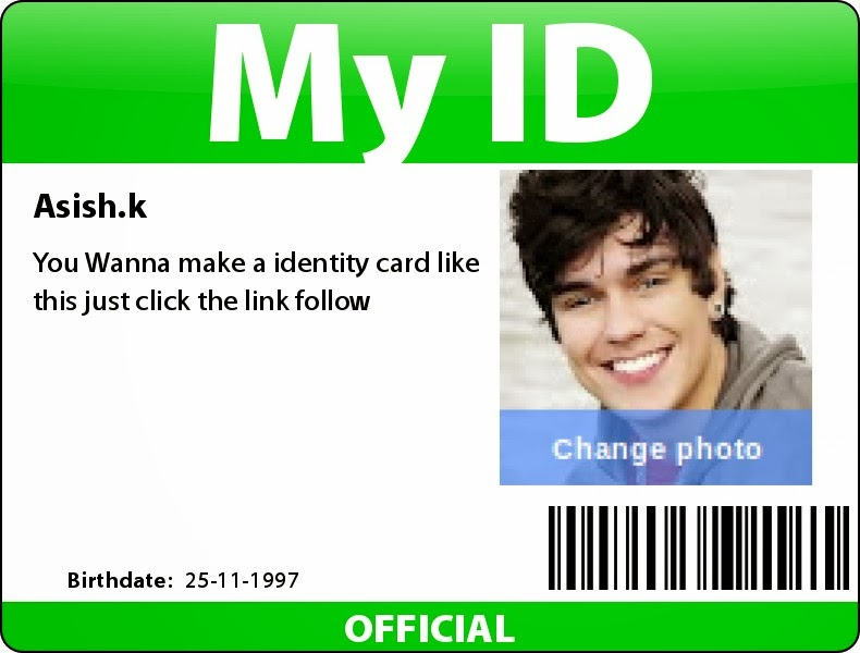 Create your own id card Its free. - SCIENCE BLOG