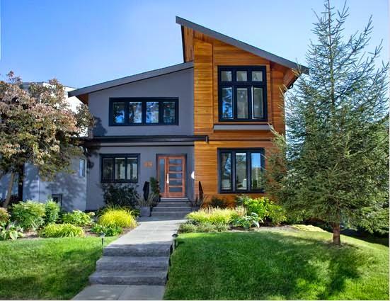 contoh gambar rumah kayu minimalis 2 lantai eksklusif