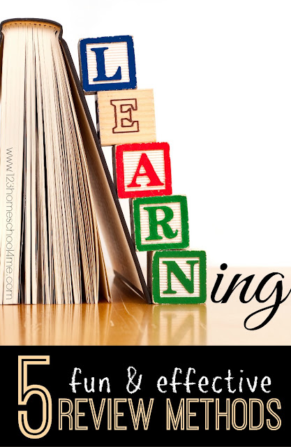 Learning - 5 FUN and effective review methods for kids of all ages K-6th grade. Great for parents, teachers, classrooms, and homeschoolers.