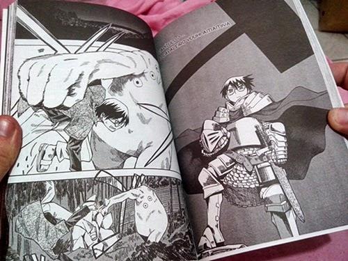 Uma das páginas de Lúcifer e o Martelo