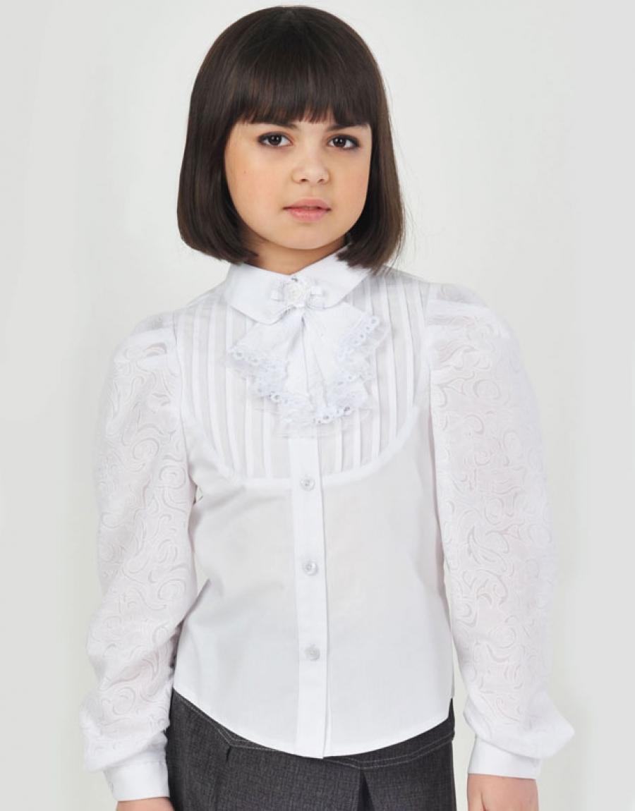 Купить Нарядную Белую Блузку Для Девочки