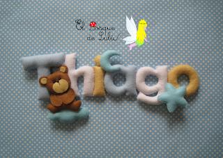 nombre-en-fieltro-regalo-nacimiento-hecho-a-mano-decoración-infantil-Thiago-name-banner-felt-nombre-decorativo-letrero-en-fieltro