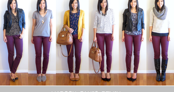 Putting me together favorites of 2013 maroon pants remix for What goes with burgundy shirt
